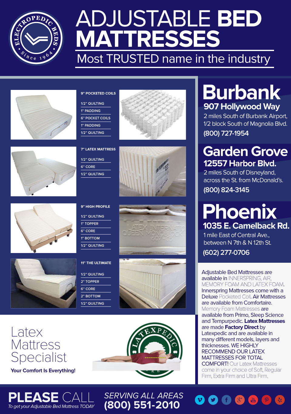 Houston TX Latex Mattress