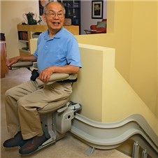 bruno CRE-2110 custom curved stair lifts houston tx chairlifts