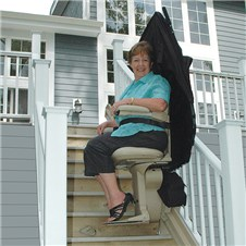 bruno SRE-2010E outside exterior stairlifts outdoors houston tx stairchairs