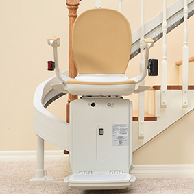 custom curved acorn 80 stairchair houston tx stairlifts